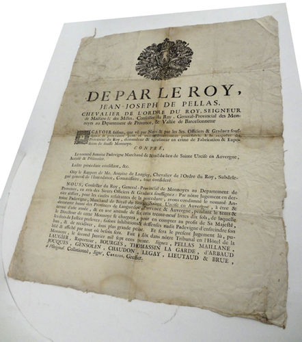 Document de condemna de 1730