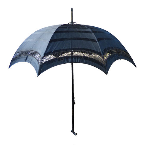 Black old promenade umbrella