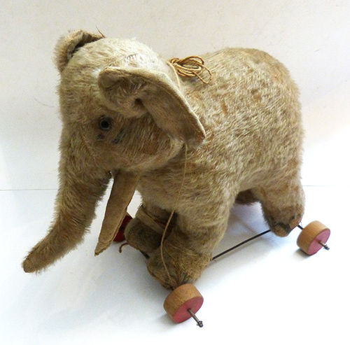 Antique elephnt on wheels from 1900s