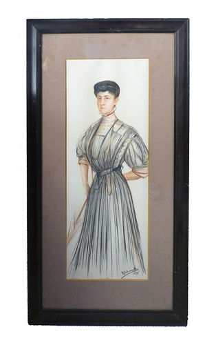 Pencil drawing on paper by Ramon Palmarola (1908)