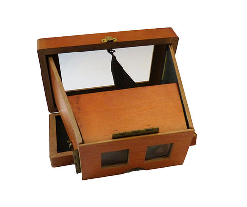 Foldable stereoscopic viewfinder