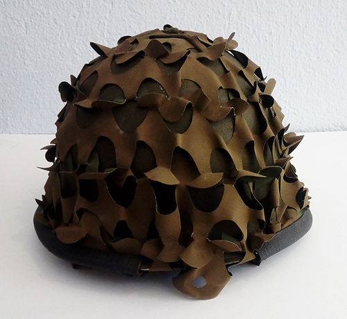 French helmet with camouflage net M51