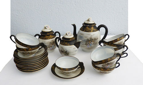 Japanese porcelain egg shell tea set