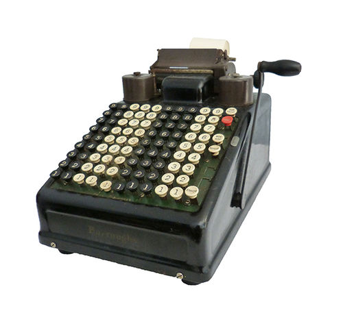 Burrough's adding machine; 20th century