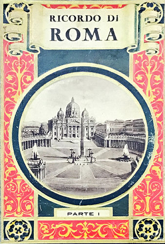 Booklet with 29 postcards of Rome