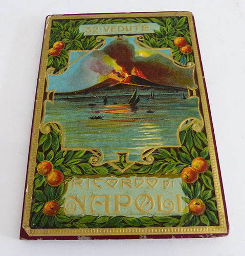 Booklet with 26 postcards of Napoli
