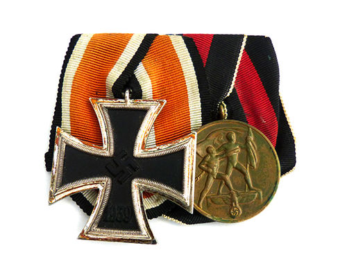 WW2 Mounted medal group - Iron Cross II. Class & Sudetenland Commemorative Medal