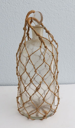 Antique glass jar
