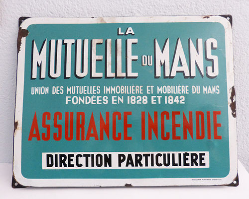 Metallic poster of La Mutuelle du Mans
