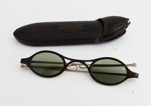 Old sun glasses with case