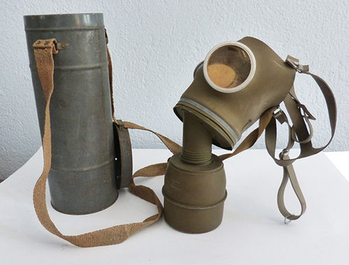 Gas mask from World War II