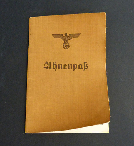 Ahnenpass. German Family Generation Document of the III Reich
