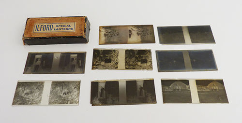 Lot with 8 photographic plates