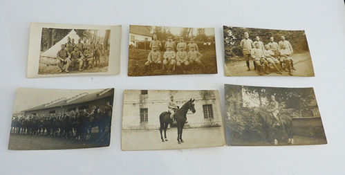 Lot of 6 military photographs