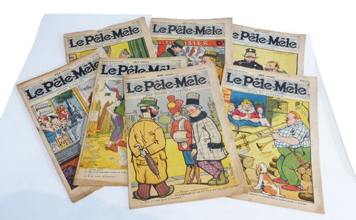 Different numbers from the magazine Le Pêle-Mêle