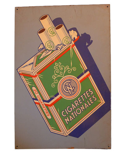 Metal poster Cigarettes Nationales