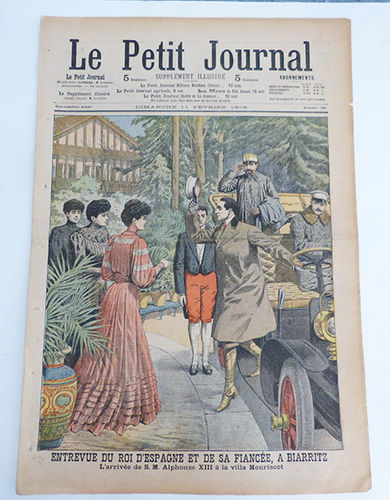 Le Petit Journal magazine with Alfonso XIII on the cover