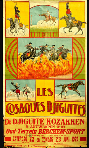 1929 advertising poster for Les Cosaques Djiguites
